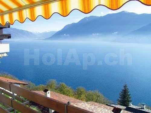 HolAp - Ferienwohnungen, Ferienhäuser im Tessin, Ascona, Locarno, Minusio, Orselina, Brione S.Minusio, Valle Maggia, Valle Verzasca, Gambarogno -  - H6614-297_vista