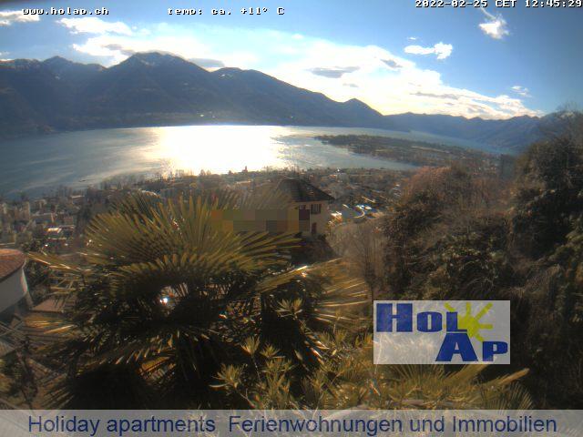 Webcam Lago Maggiore Minusio Lago Maggiore